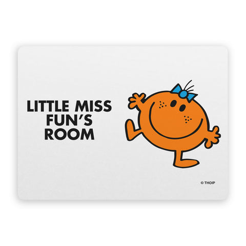 Little Miss Fun Door Plaque