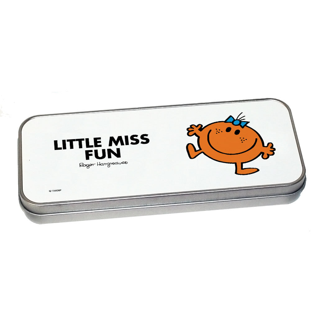 Little Miss Fun Pencil Case Tin (Silver)