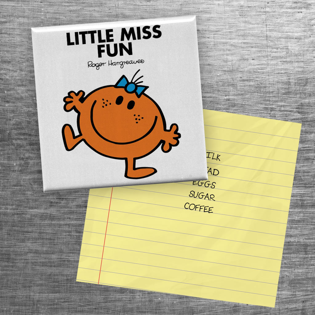 Little Miss Fun Square Magnet (Lifestyle)