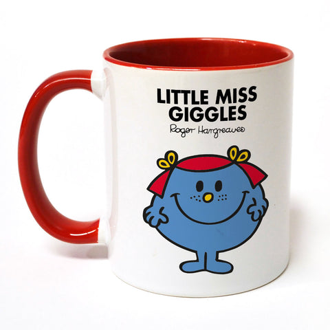 Little Miss Giggles Large Porcelain Colour Handle Mug