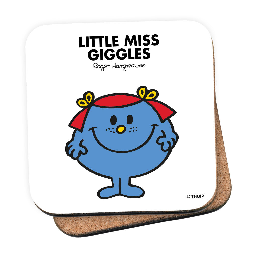 Little Miss Giggles Cork Coaster