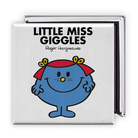 Little Miss Giggles Square Magnet