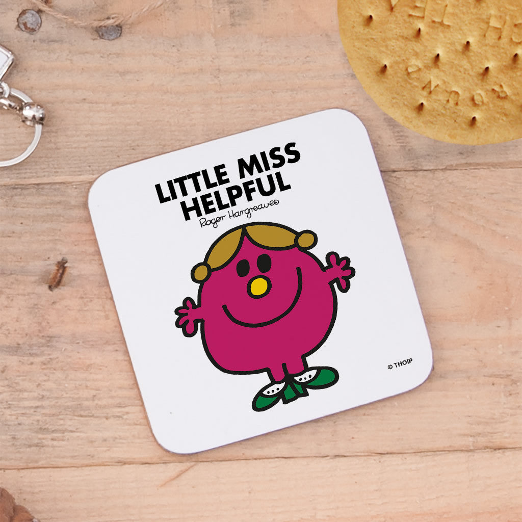 Little Miss Helpful Cork Coaster (Lifestyle)