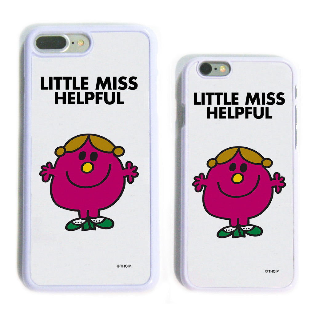 Little Miss Helpful White Phone Case