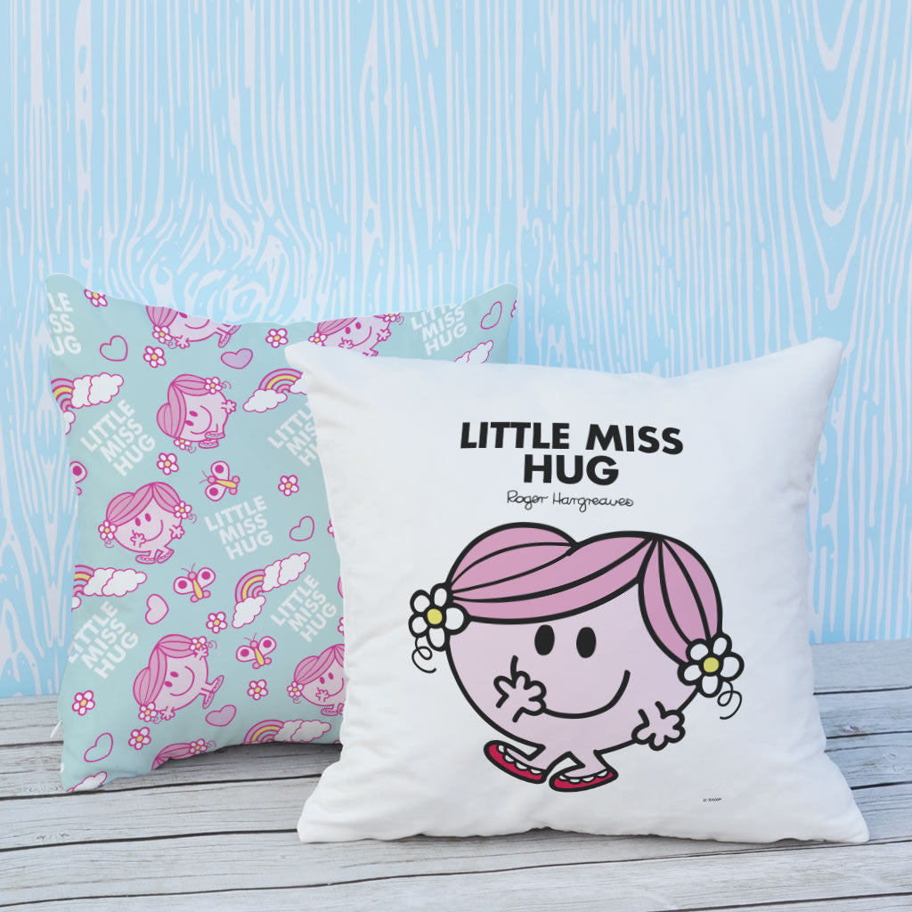 Little Miss Hug Micro Fibre Cushion (Lifestyle)