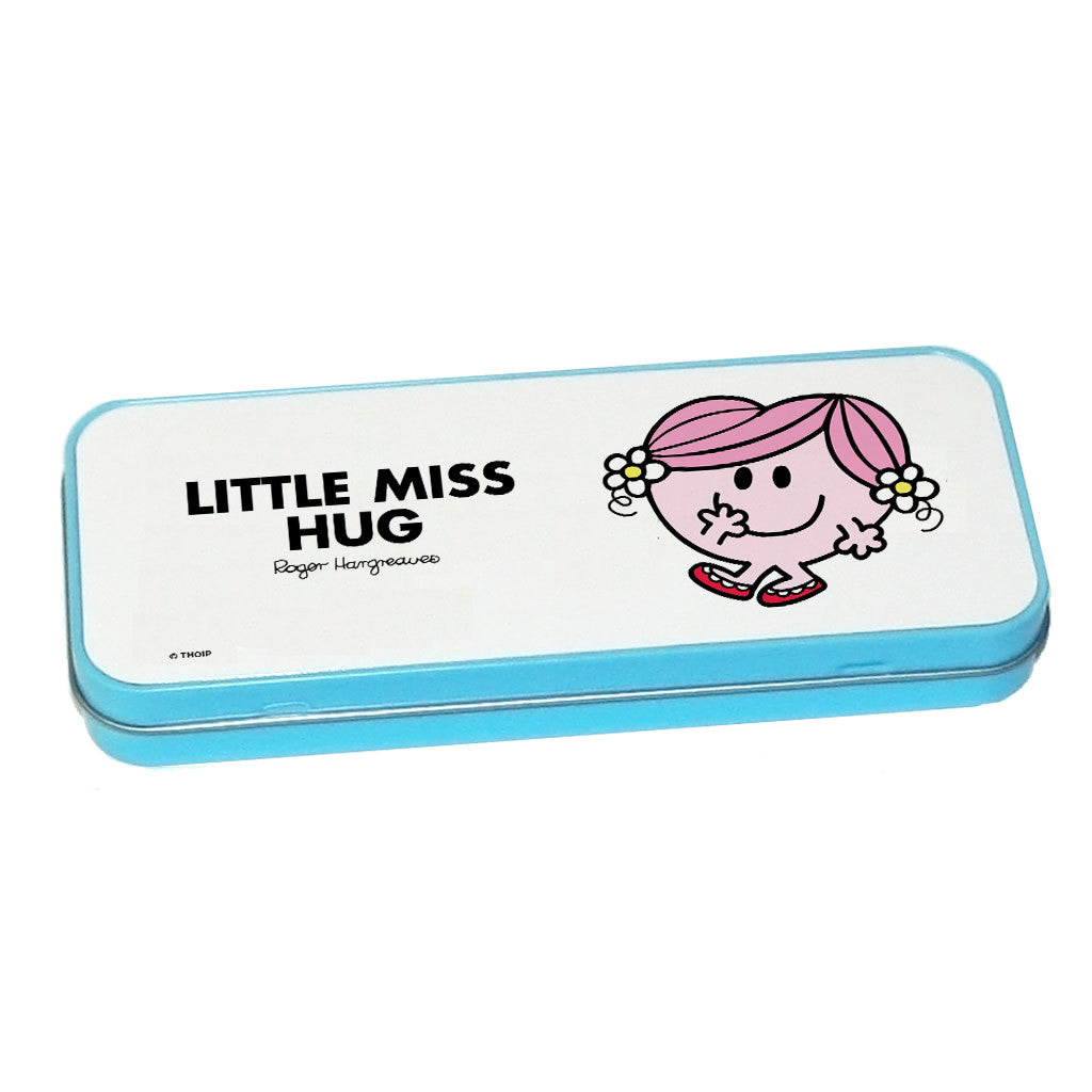 Little Miss Hug Pencil Case Tin (Blue)
