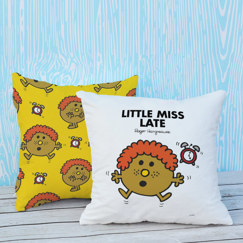 Little Miss Late Micro Fibre Cushion (Lifestyle)