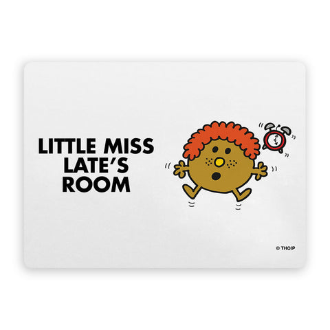 Little Miss Late Door Plaque