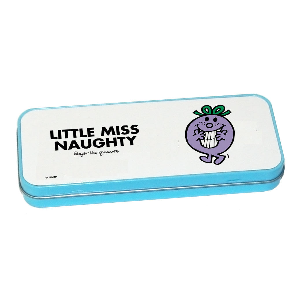 Little Miss Naughty Pencil Case Tin (Blue)