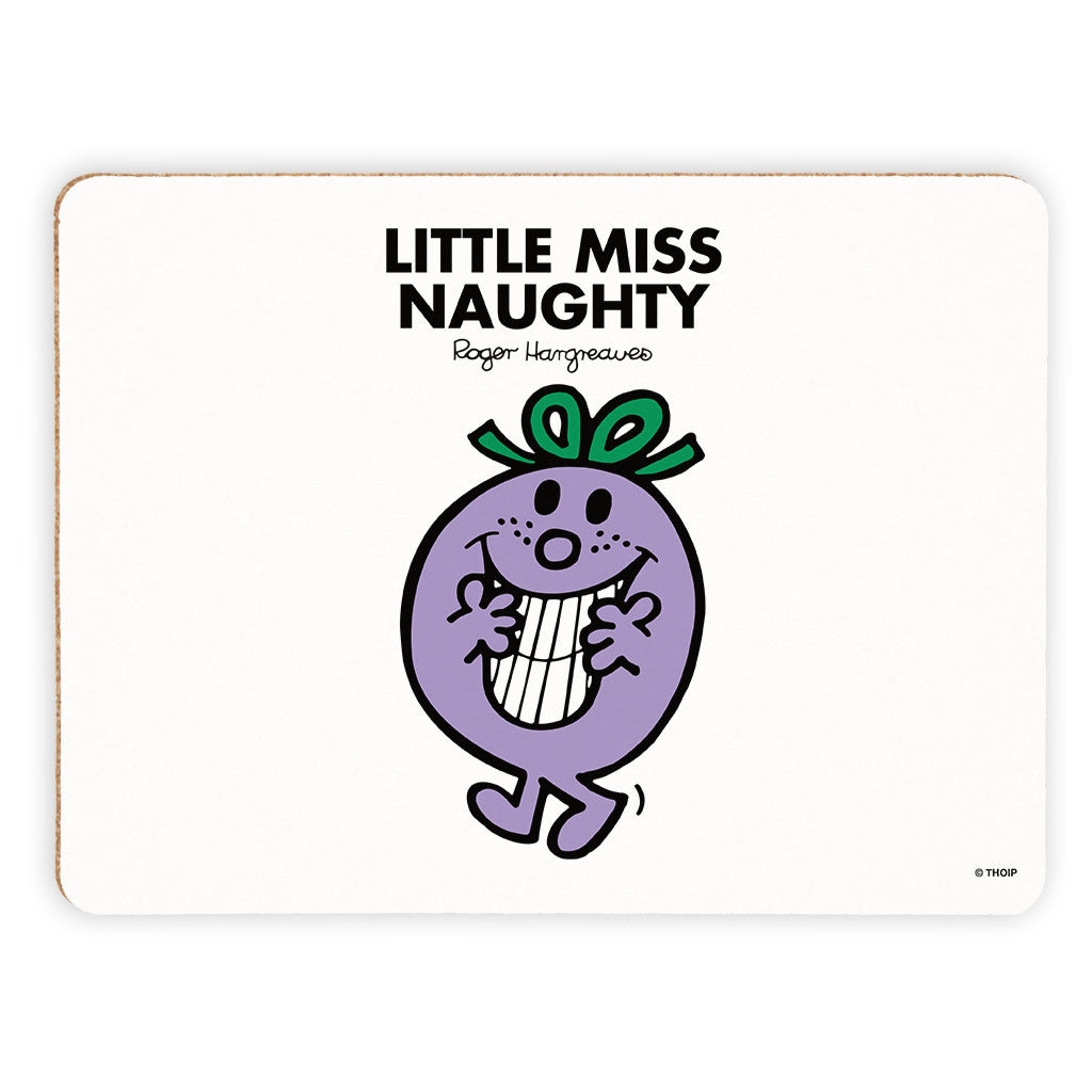 Little Miss Naughty Cork Placemat