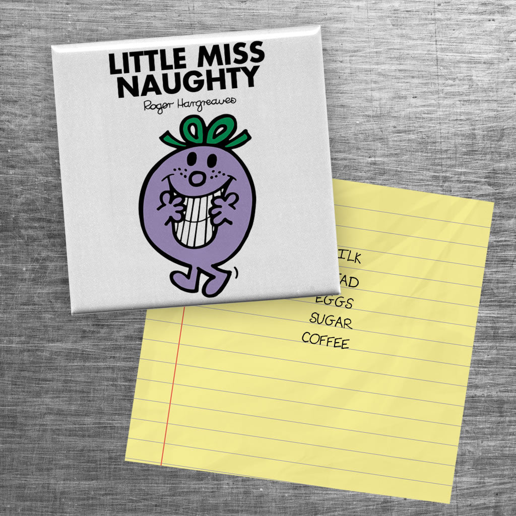Little Miss Naughty Square Magnet (Lifestyle)