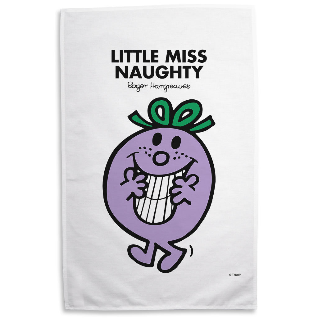 Little Miss Naughty Tea Towel