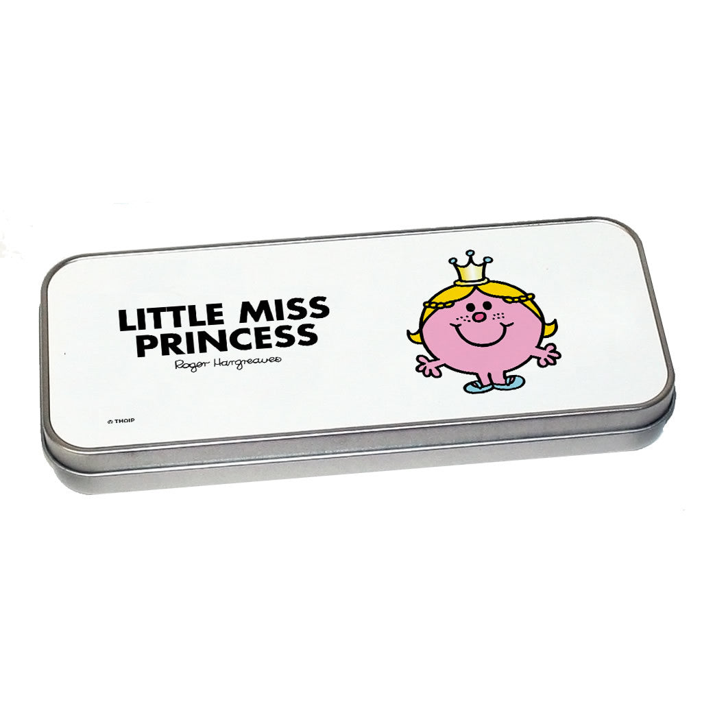 Little Miss Princess Pencil Case Tin (Silver)