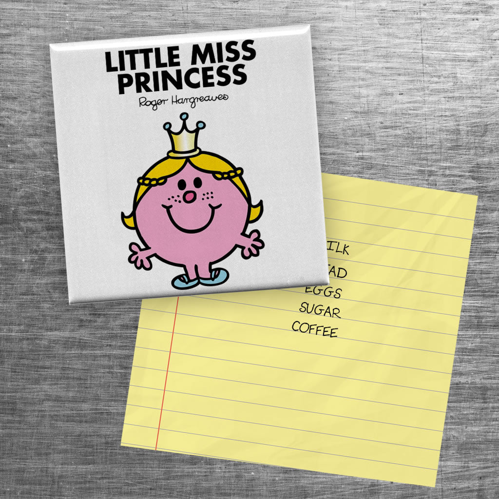 Little Miss Princess Square Magnet (Lifestyle)