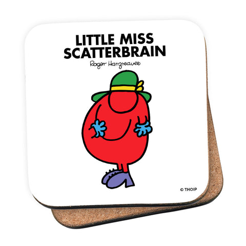Little Miss Scatterbrain Cork Coaster