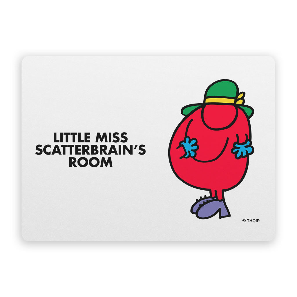 Little Miss Scatterbrain Door Plaque