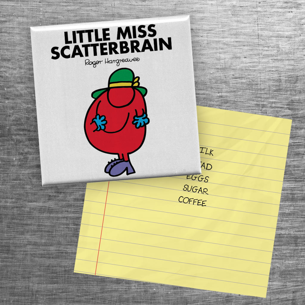Little Miss Scatterbrain Square Magnet (Lifestyle)