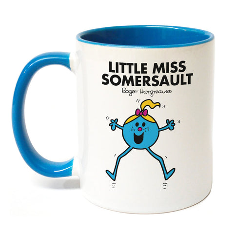 Little Miss Somersault Large Porcelain Colour Handle Mug