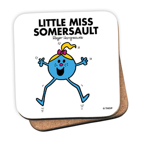 Little Miss Somersault Cork Coaster