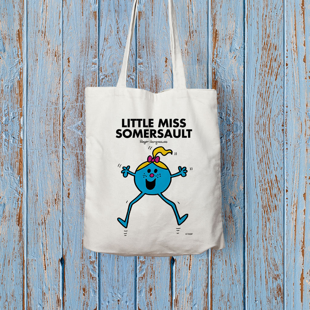 Little Miss Somersault Long Handled Tote Bag (Lifestyle)