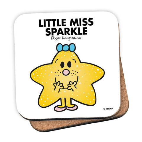 Little Miss Sparkle Cork Coaster