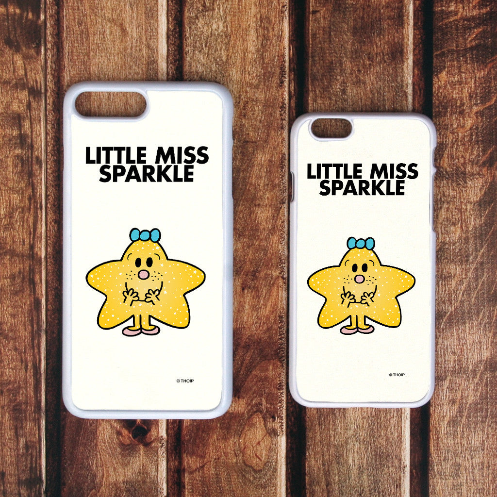 Little Miss Sparkle White Phone Case (Lifestyle)