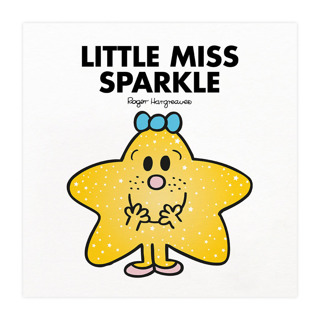 Little Miss Sparkle Mounted Art Print