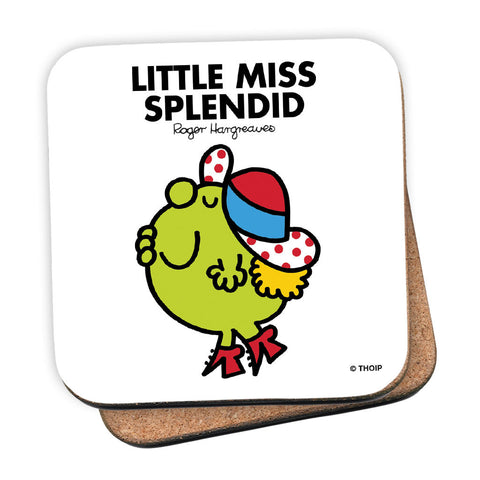 Little Miss Splendid Cork Coaster
