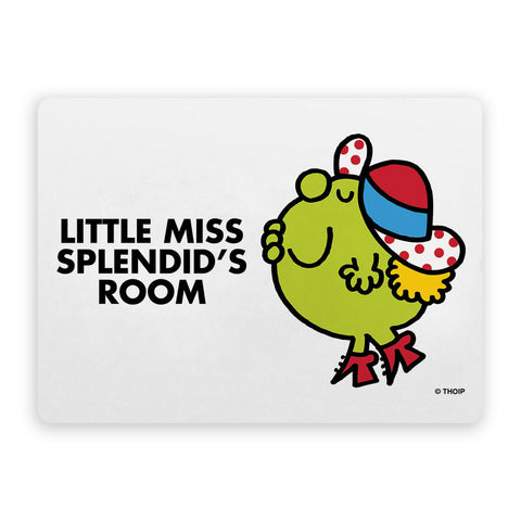 Little Miss Splendid Door Plaque