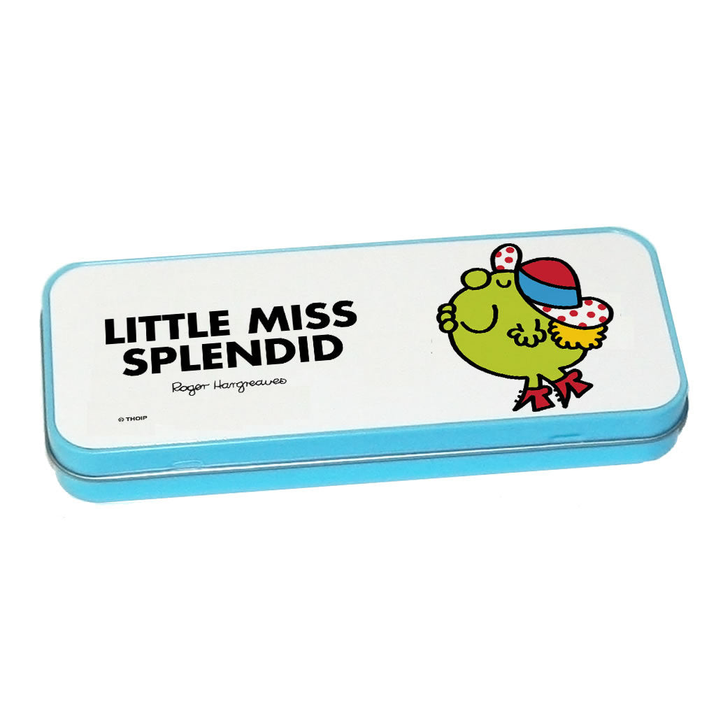 Little Miss Splendid Pencil Case Tin (Blue)