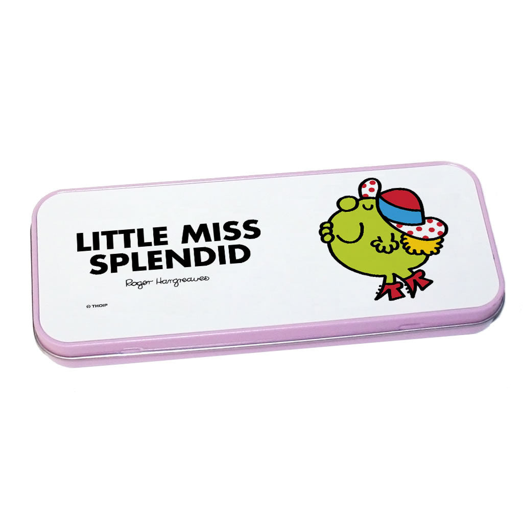 Little Miss Splendid Pencil Case Tin (Pink)