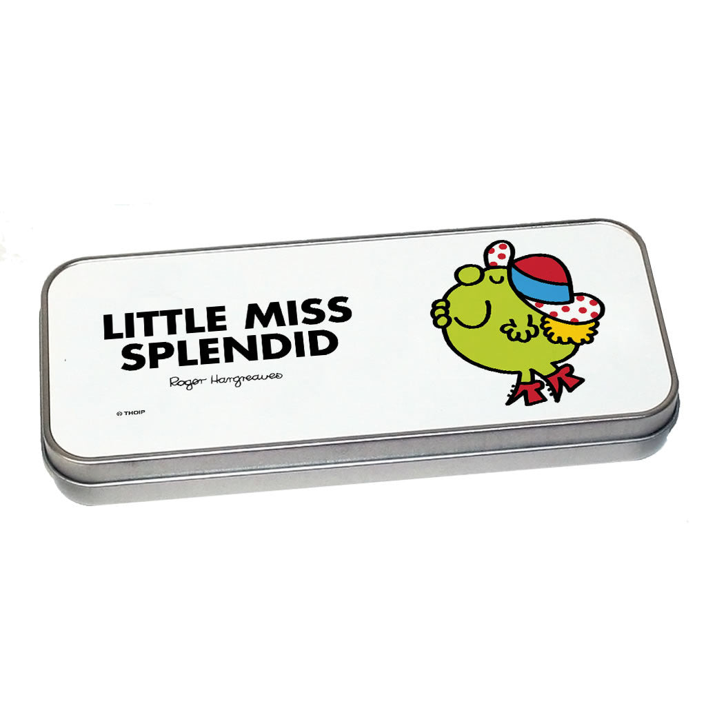 Little Miss Splendid Pencil Case Tin (Silver)