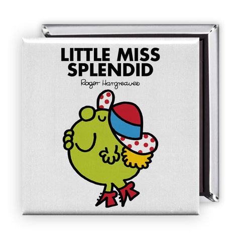 Little Miss Splendid Square Magnet