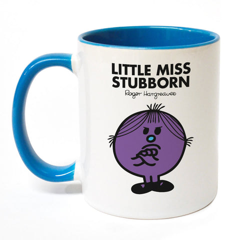Little Miss Stubborn Large Porcelain Colour Handle Mug
