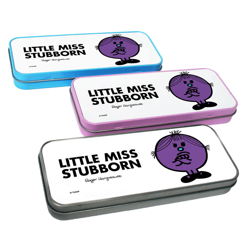 Little Miss Stubborn Pencil Case Tin