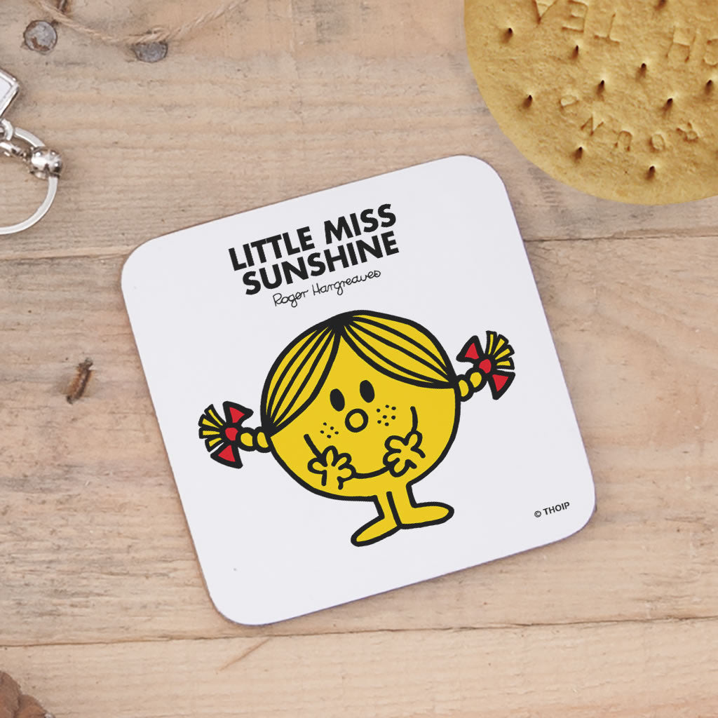 Little Miss Sunshine Cork Coaster (Lifestyle)