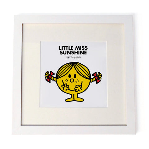 Little Miss Sunshine White Framed Print