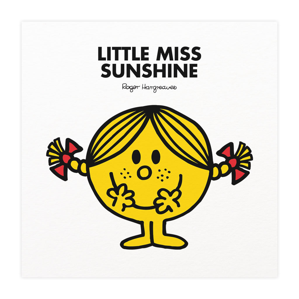 Personalised Little Miss Sunshine White Framed Print