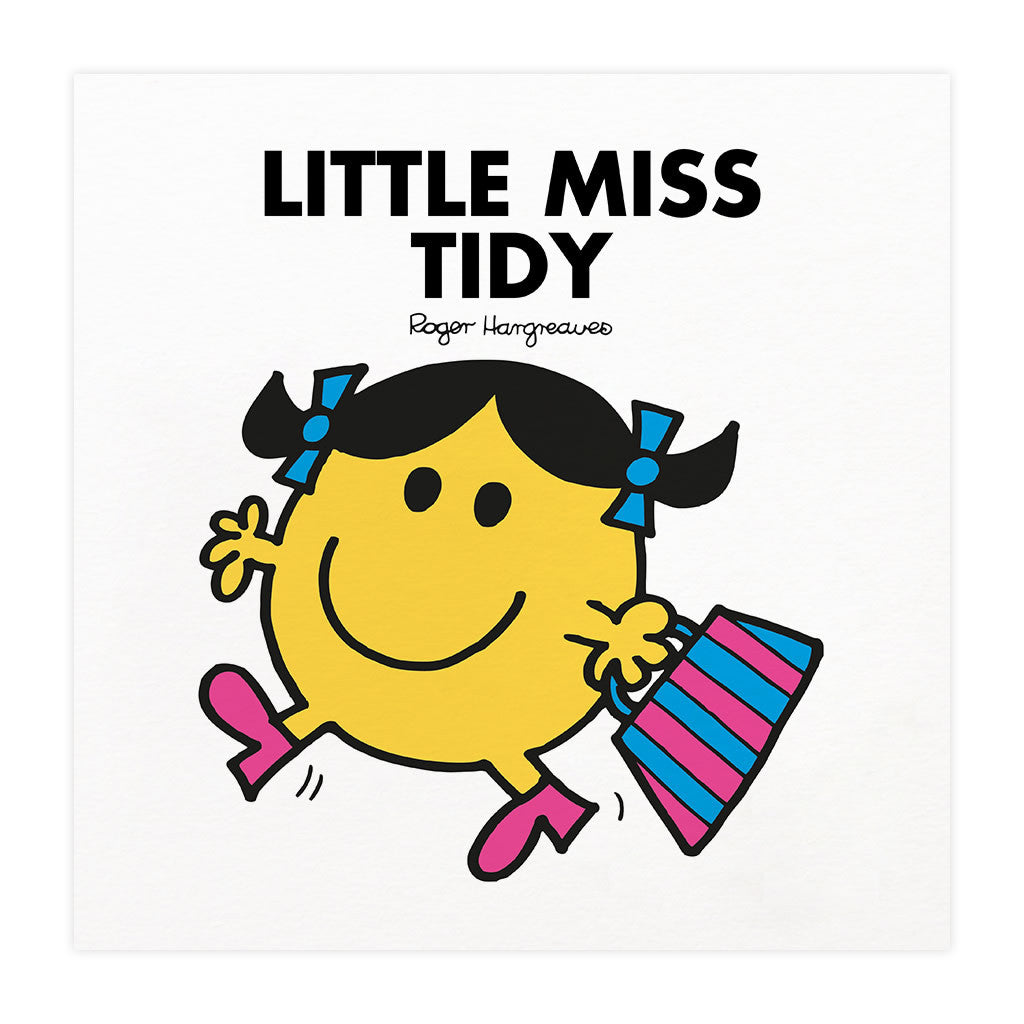 Little Miss Tidy Mounted Art Print