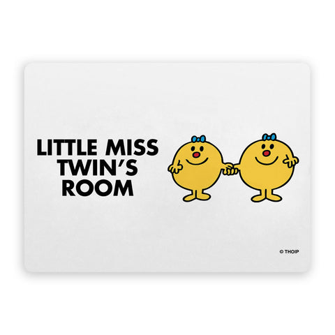 Little Miss Twins Door Plaque