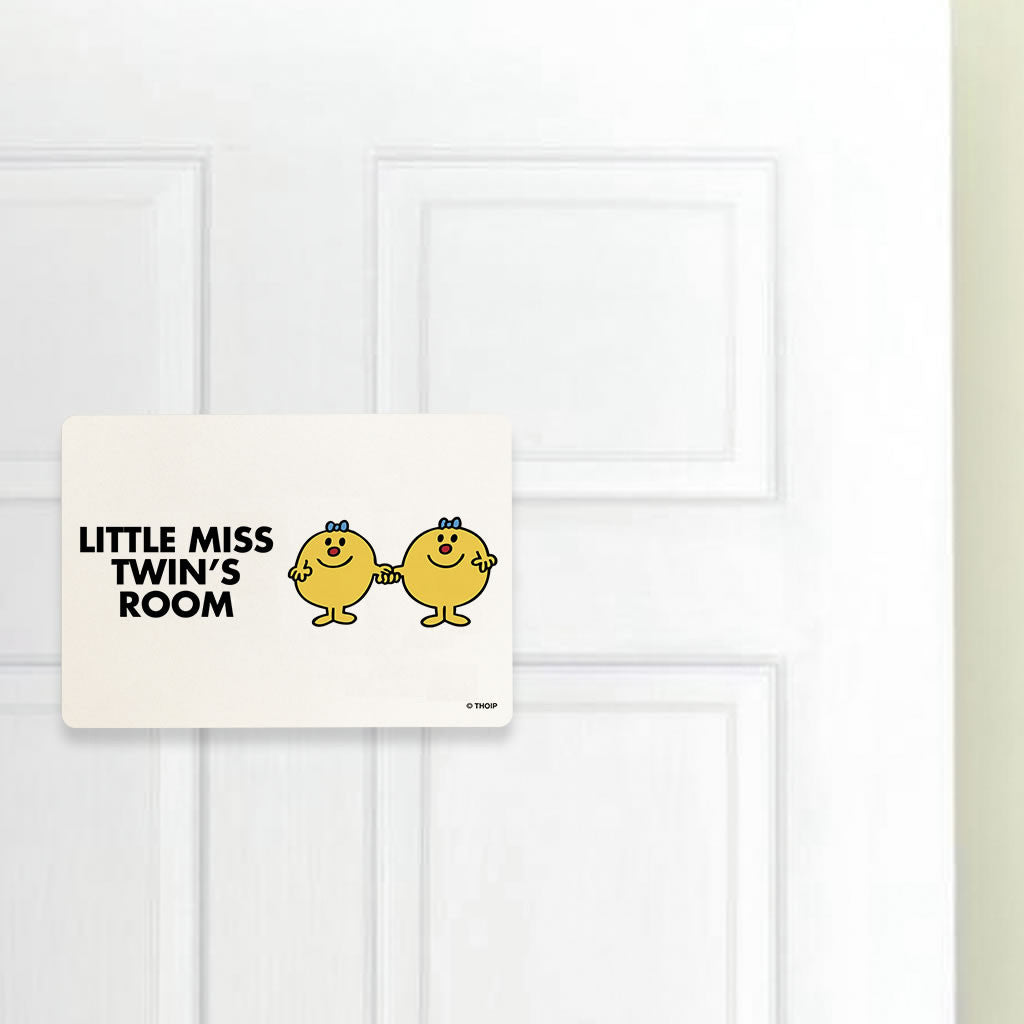 Little Miss Twins Door Plaque (Lifestyle)