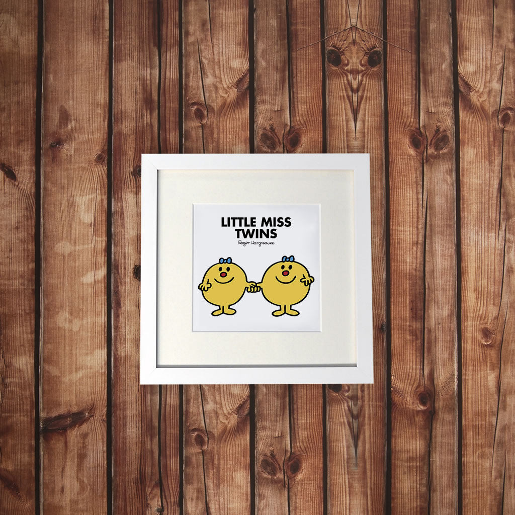 Little Miss Twins White Framed Print (Lifestyle)