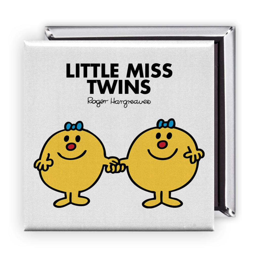 Little Miss Twins Square Magnet