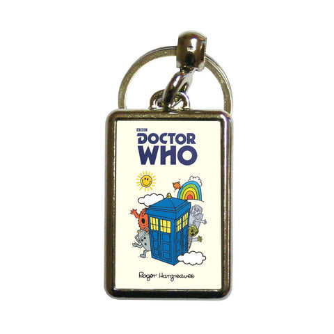 Monsters Tardis Metal Keyring