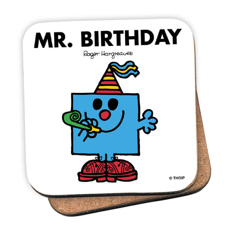 Mr. Birthday Cork Coaster