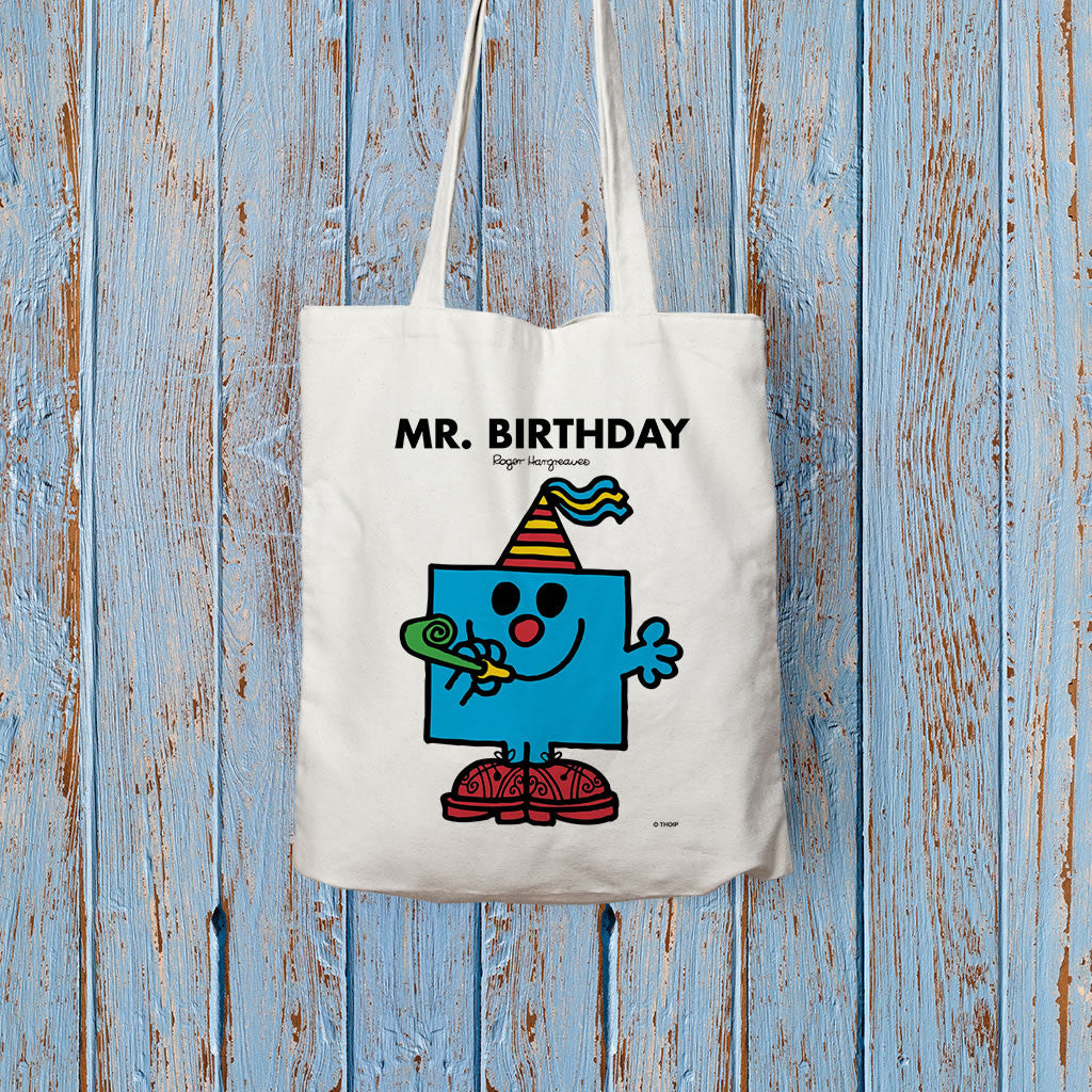 Mr. Birthday Long Handled Tote Bag (Lifestyle)