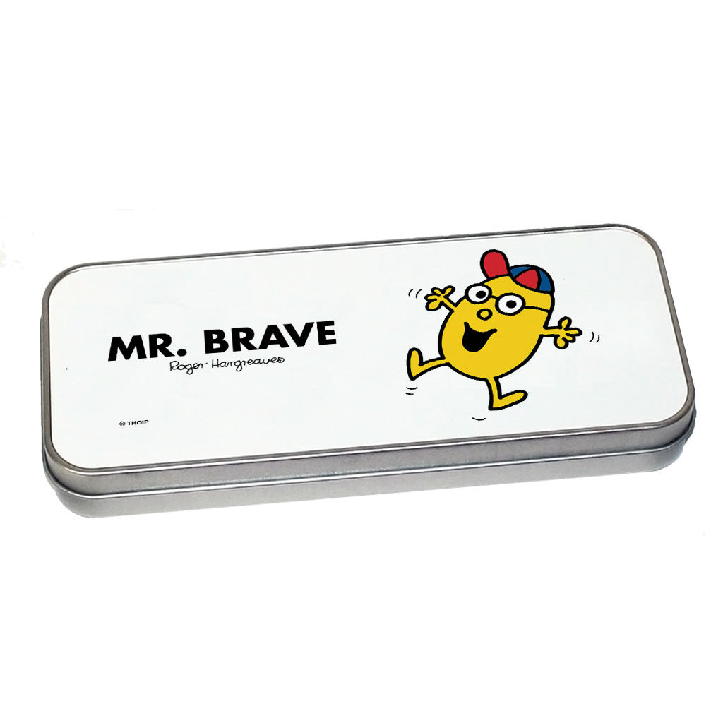 Mr. Brave Pencil Case Tin (Silver)