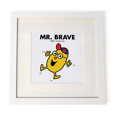 Mr. Brave White Framed Print