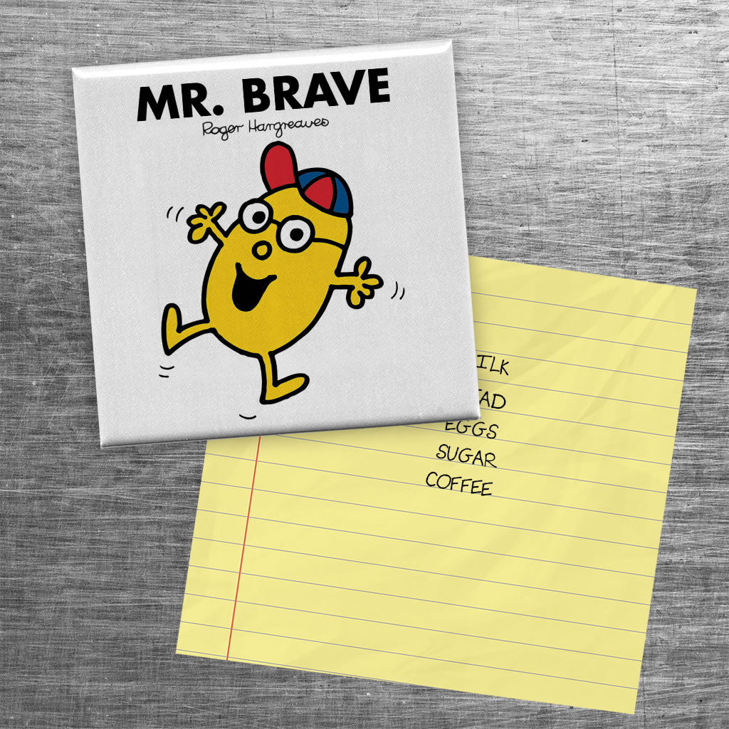 Mr. Brave Square Magnet (Lifestyle)