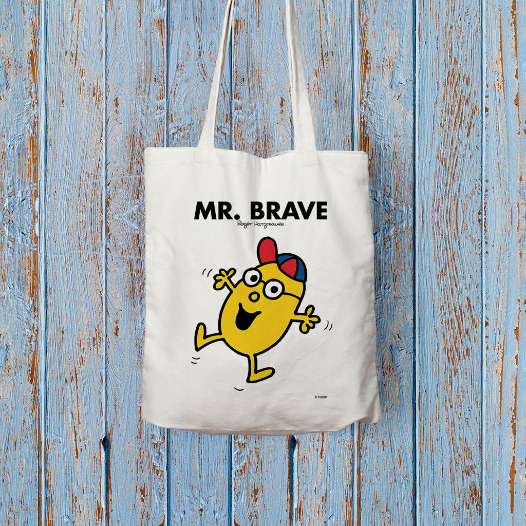 Mr. Brave Long Handled Tote Bag (Lifestyle)